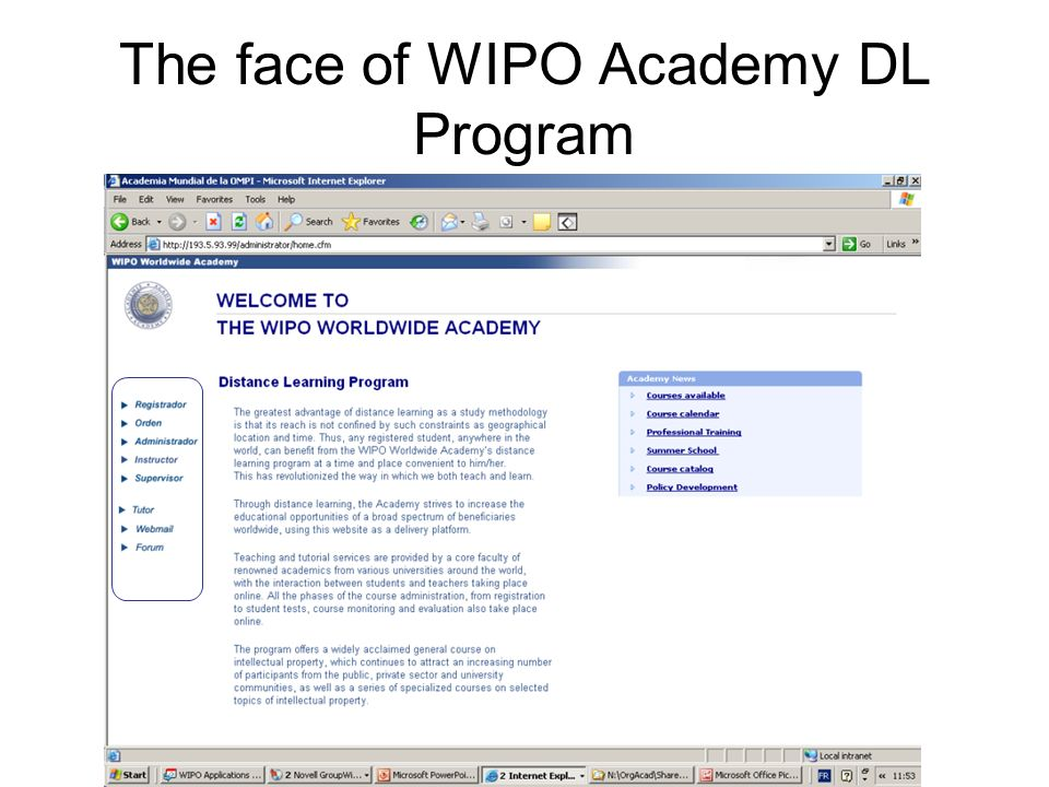 The face of WIPO Academy DL Program