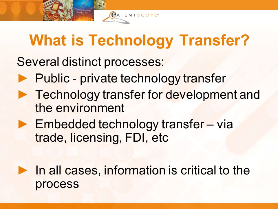 What is Technology Transfer.