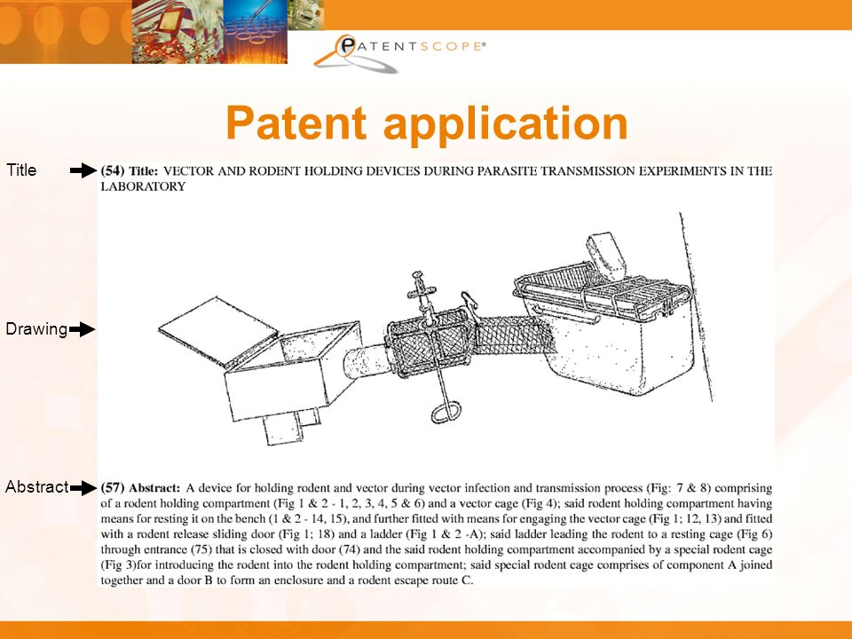 Patent application Title Abstract Drawing
