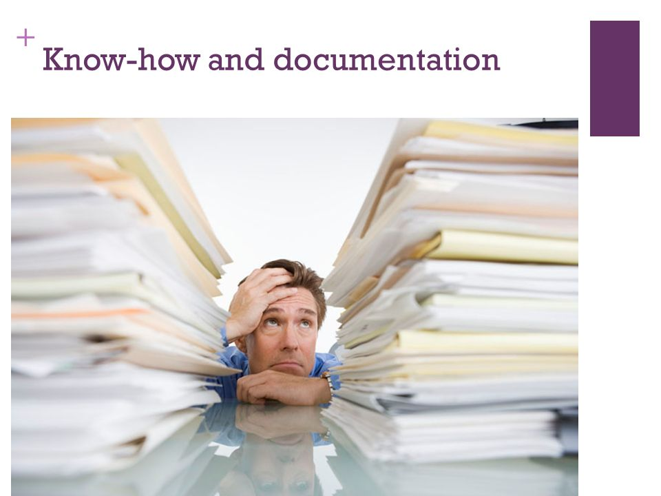 + Know-how and documentation