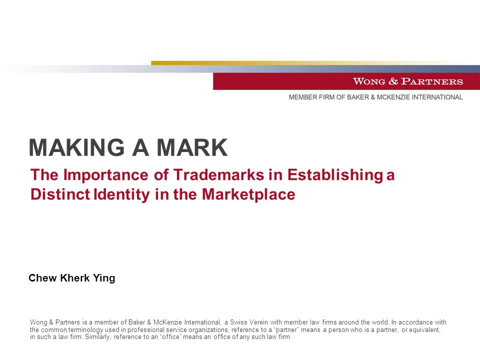 Wong & Partners is a member of Baker & McKenzie International, a Swiss Verein with member law firms around the world.