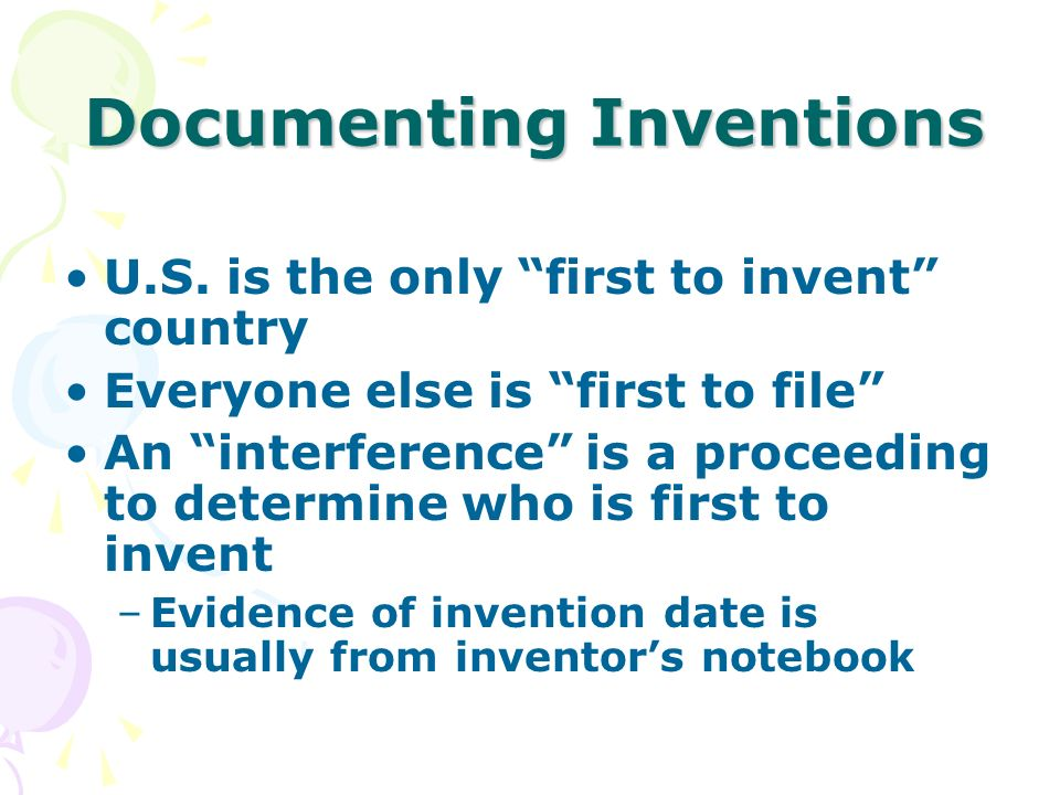 Documenting Inventions U.S.