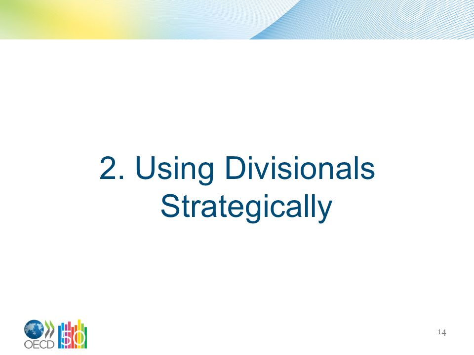 2. Using Divisionals Strategically 14