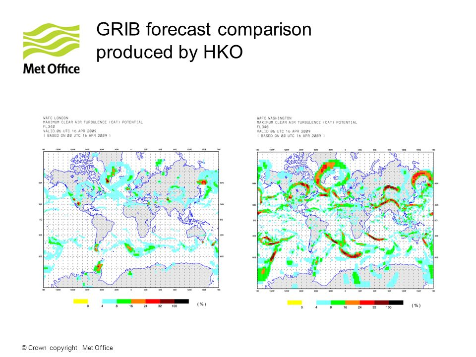 © Crown copyright Met Office GRIB forecast comparison produced by HKO