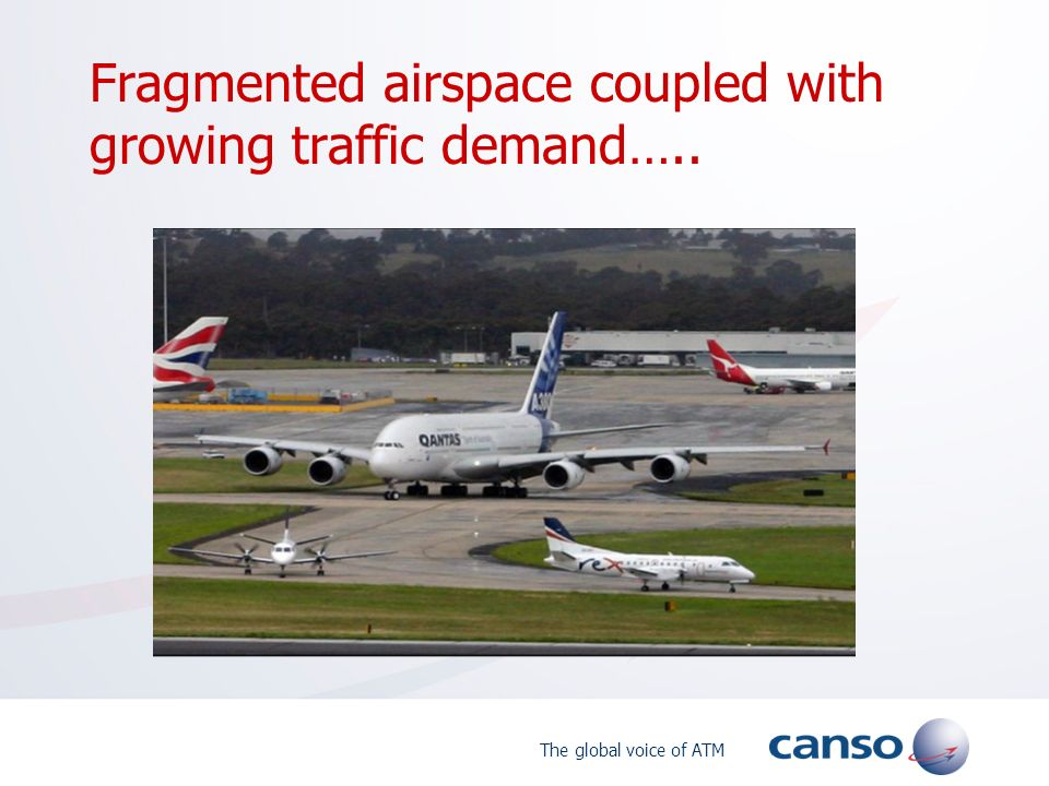 The global voice of ATM Fragmented airspace coupled with growing traffic demand…..