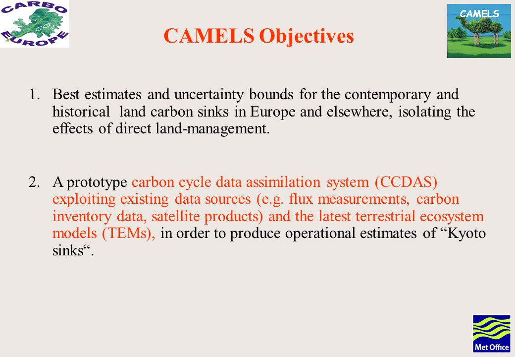 CAMELS 1.Best estimates and uncertainty bounds for the contemporary and historical land carbon sinks in Europe and elsewhere, isolating the effects of direct land-management.