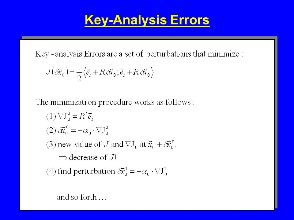 Key-Analysis Errors