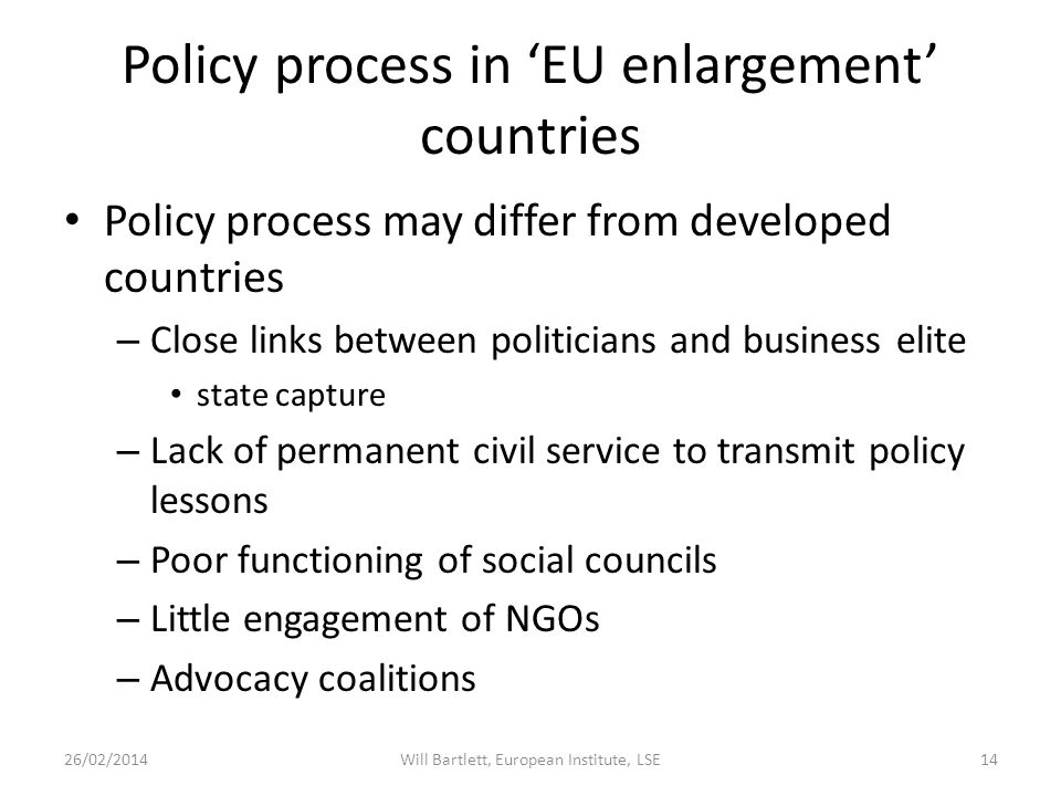 Evidence Based Policy Making Are studies such as this useful to policy makers.
