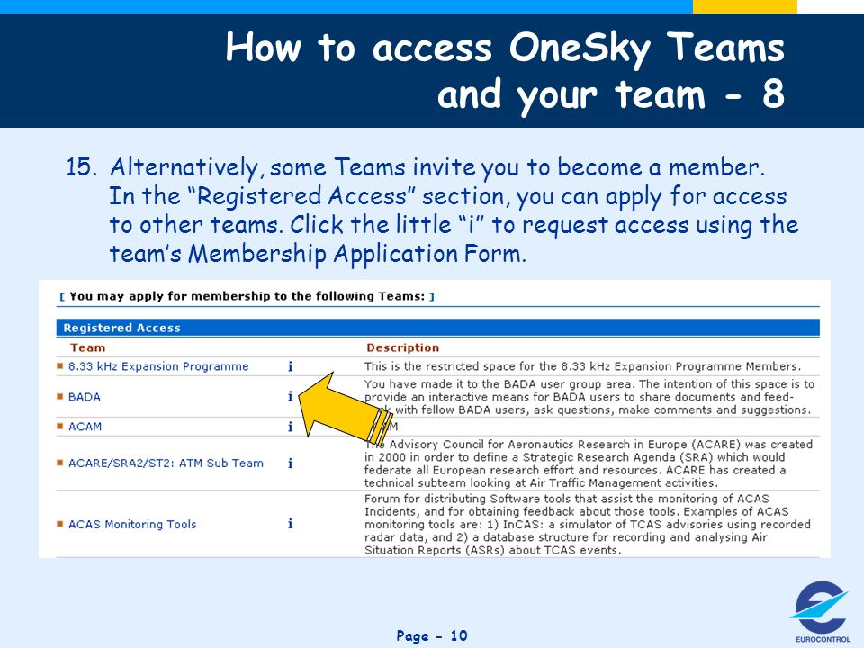 Click to edit Master title style Page Alternatively, some Teams invite you to become a member.