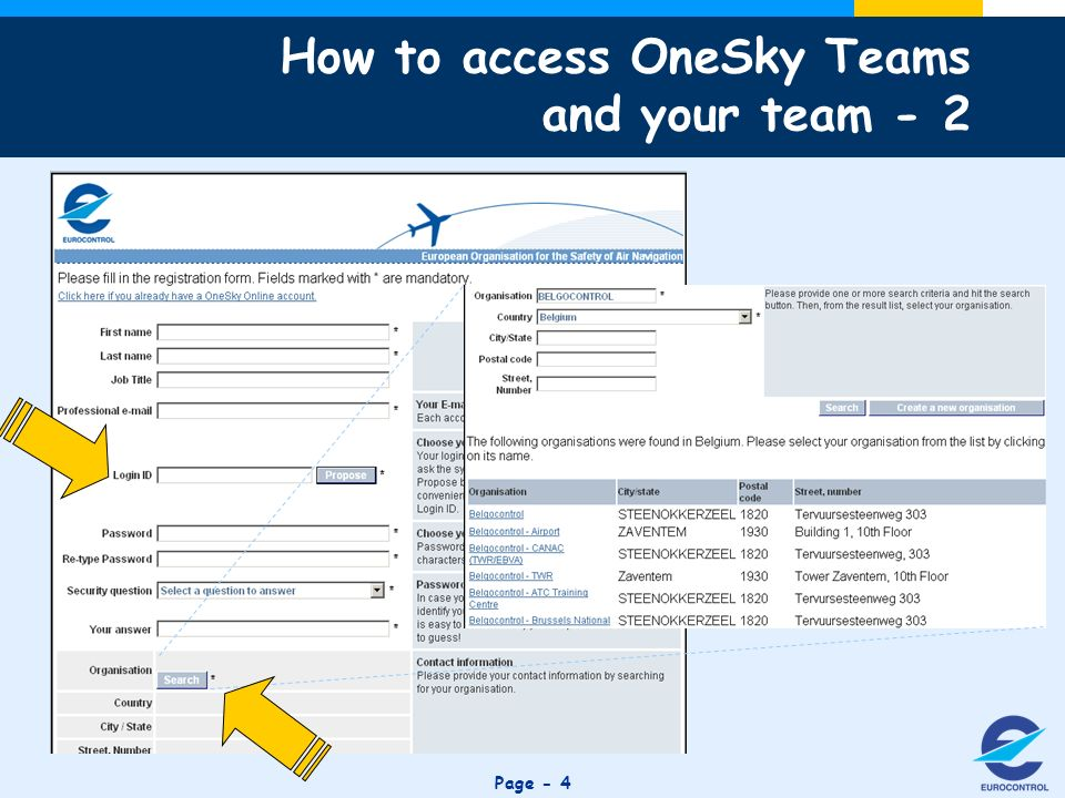 Click to edit Master title style Page - 4 How to access OneSky Teams and your team - 2