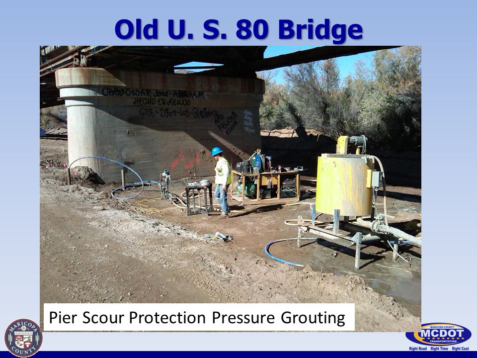 Old U. S. 80 Bridge Pier Scour Protection Pressure Grouting
