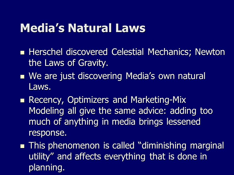Medias Natural Laws Herschel discovered Celestial Mechanics; Newton the Laws of Gravity.