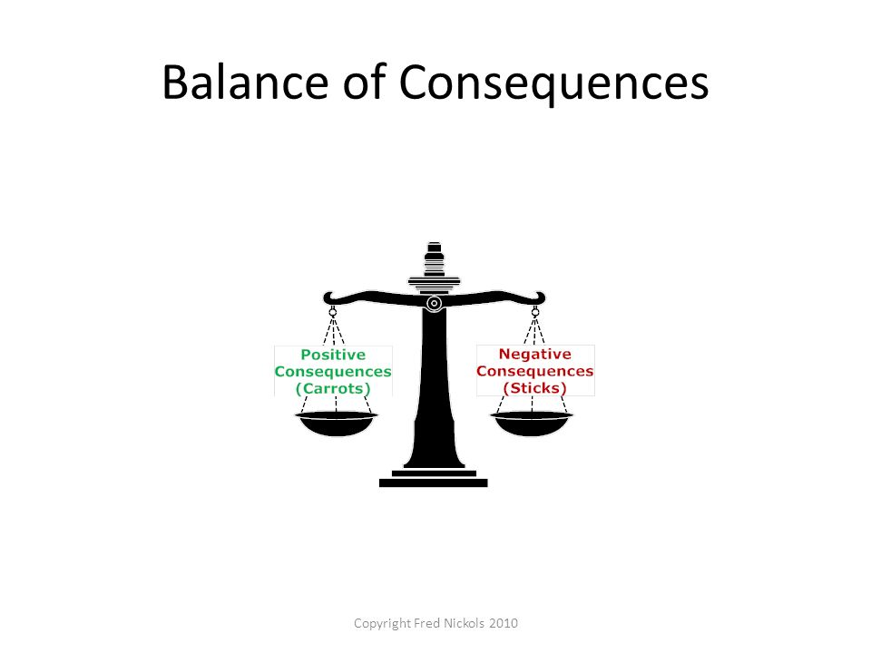 Balance of Consequences Copyright Fred Nickols 2010