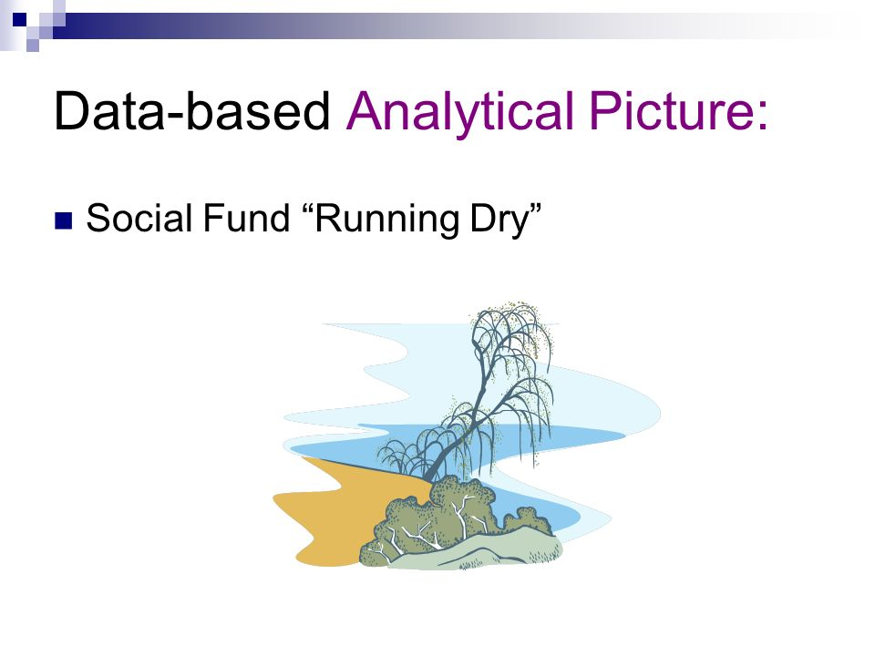 Data-based Analytical Picture: Social Fund Running Dry