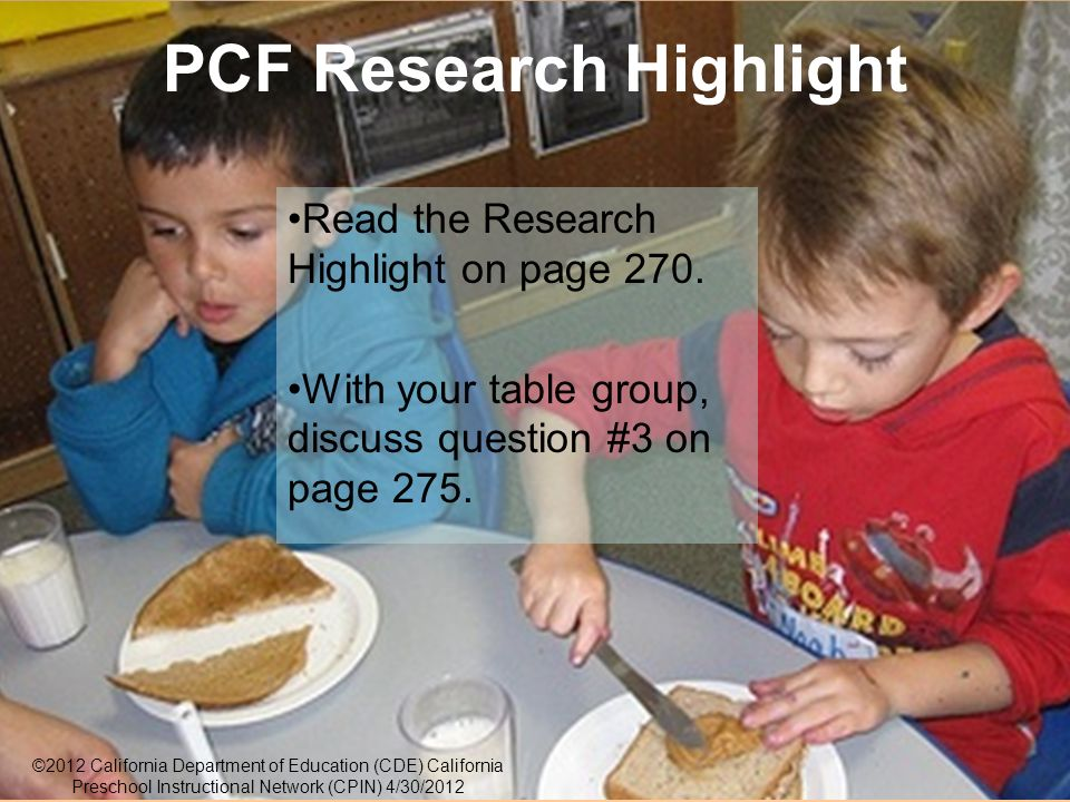 30 PCF Research Highlight Read the Research Highlight on page 270.