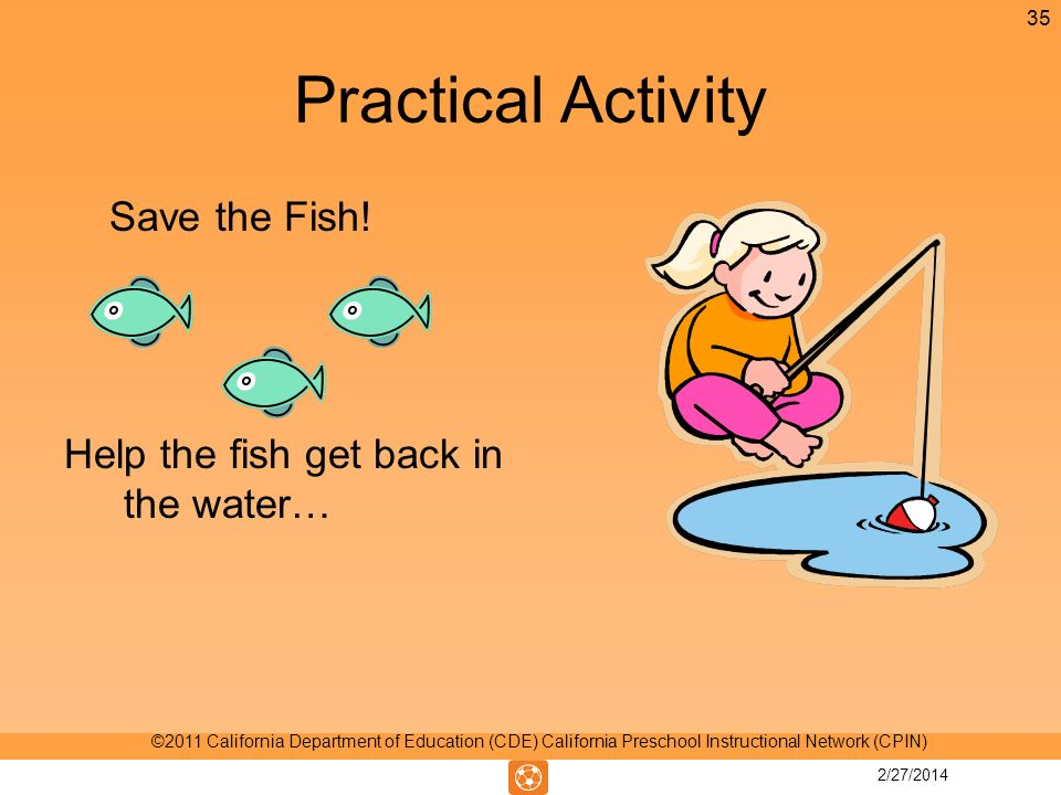 Practical Activity Save the Fish.