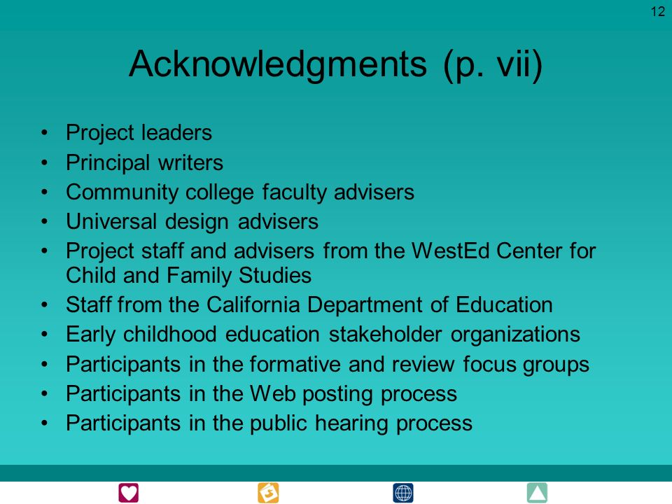12 Acknowledgments (p.