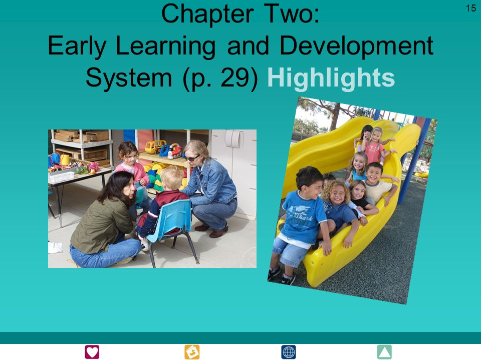 15 Chapter Two: Early Learning and Development System (p. 29) Highlights