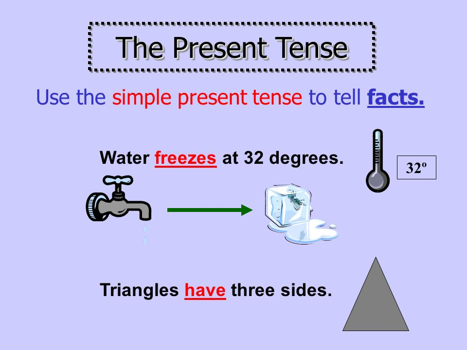 Use the simple present tense to tell about things that happen again and again.