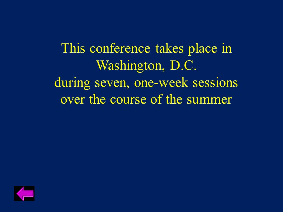 This conference takes place in Washington, D.C.