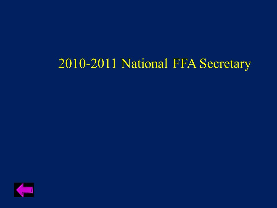 2010-2011 National FFA Secretary