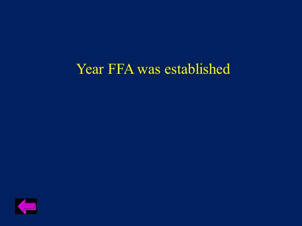 Year FFA was established