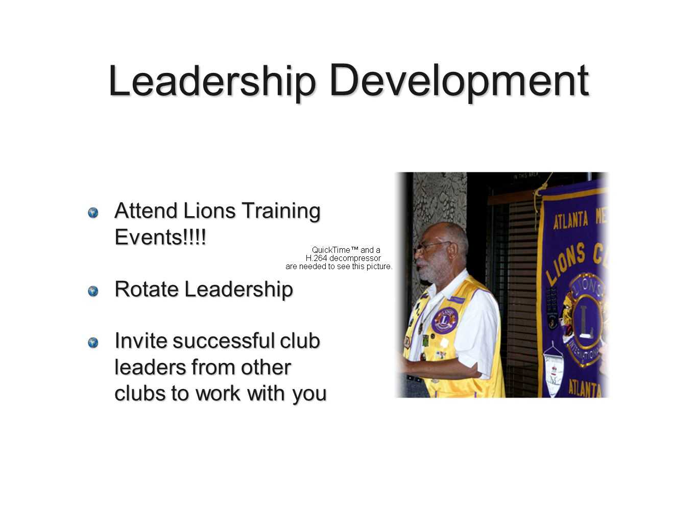 Leadership Development Attend Lions Training Events!!!.