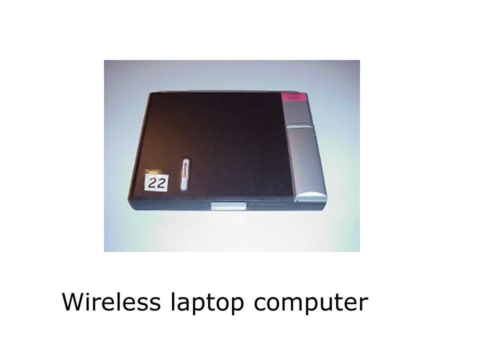 Wireless laptop computer