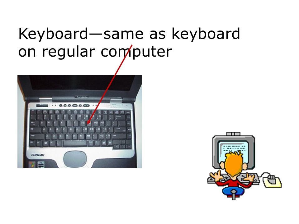 Keyboardsame as keyboard on regular computer