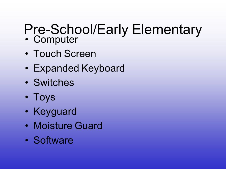Pre-School/Early Elementary Computer Touch Screen Expanded Keyboard Switches Toys Keyguard Moisture Guard Software