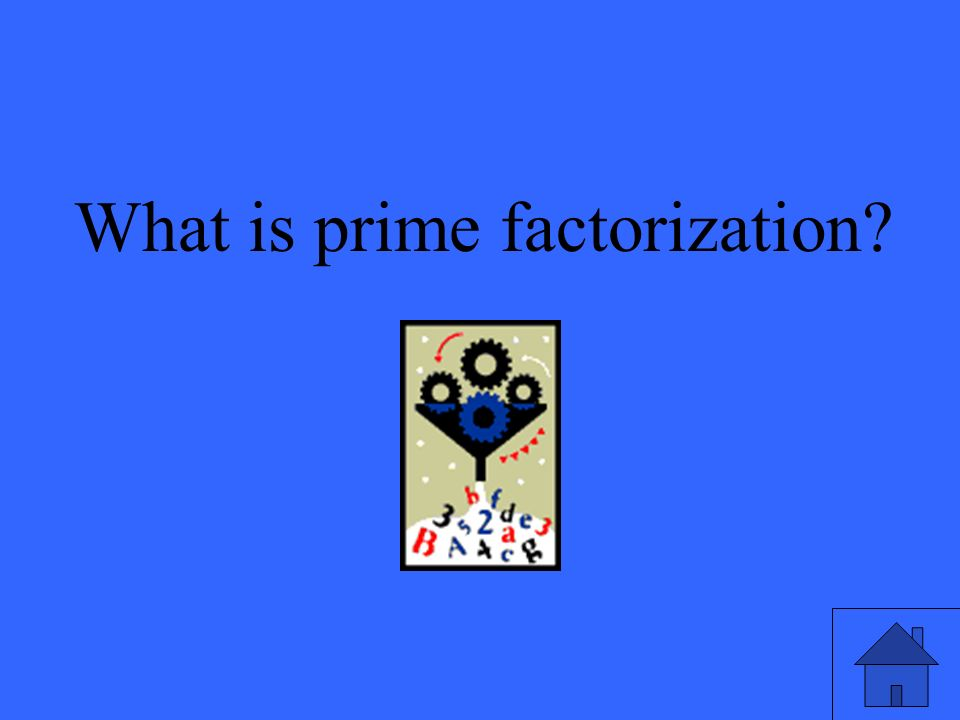 What is prime factorization