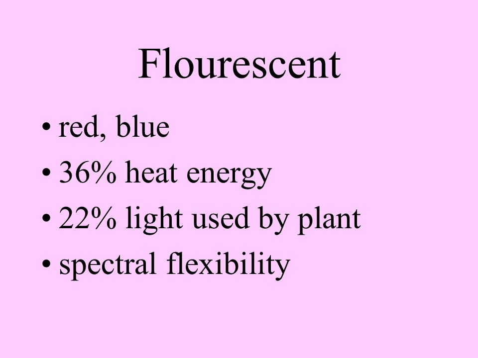 Incandescent 20% visible light 12% utilized by plant