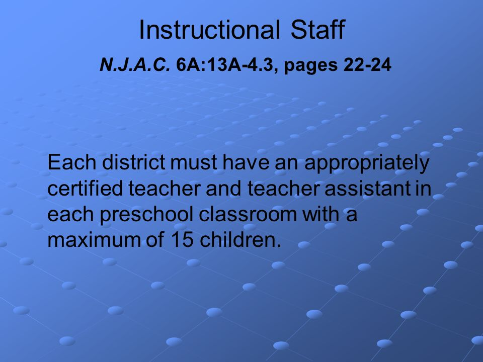 Instructional Staff N.J.A.C.
