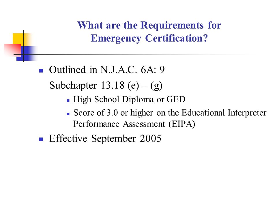 Certification Requirements For Educational Interpreters In New