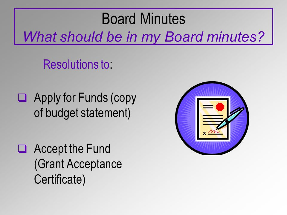 Board Minutes What should be in my Board minutes.