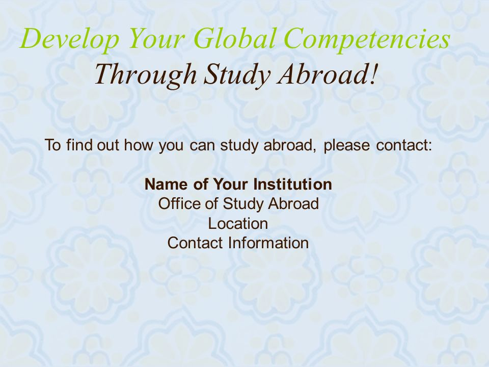 29 Develop Your Global Competencies Through Study Abroad.