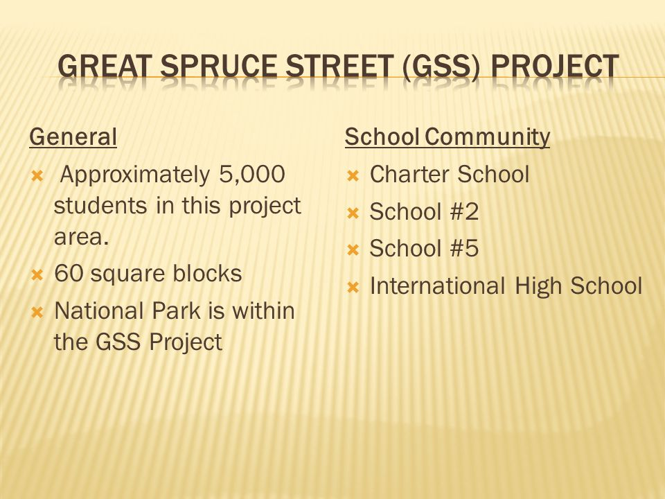General Approximately 5,000 students in this project area.