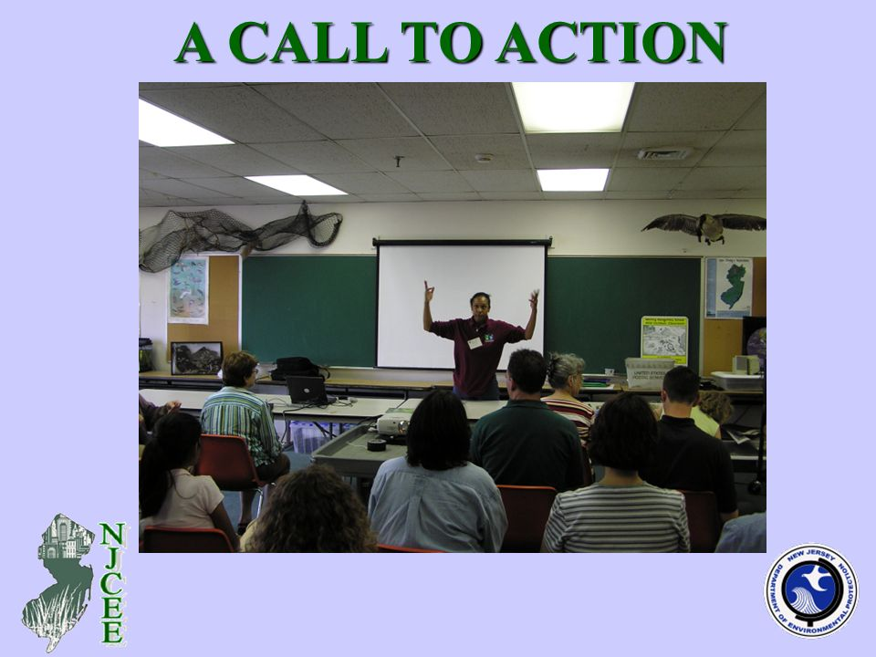 (adult learning in indoor classroom – photo) A CALL TO ACTION A CALL TO ACTION