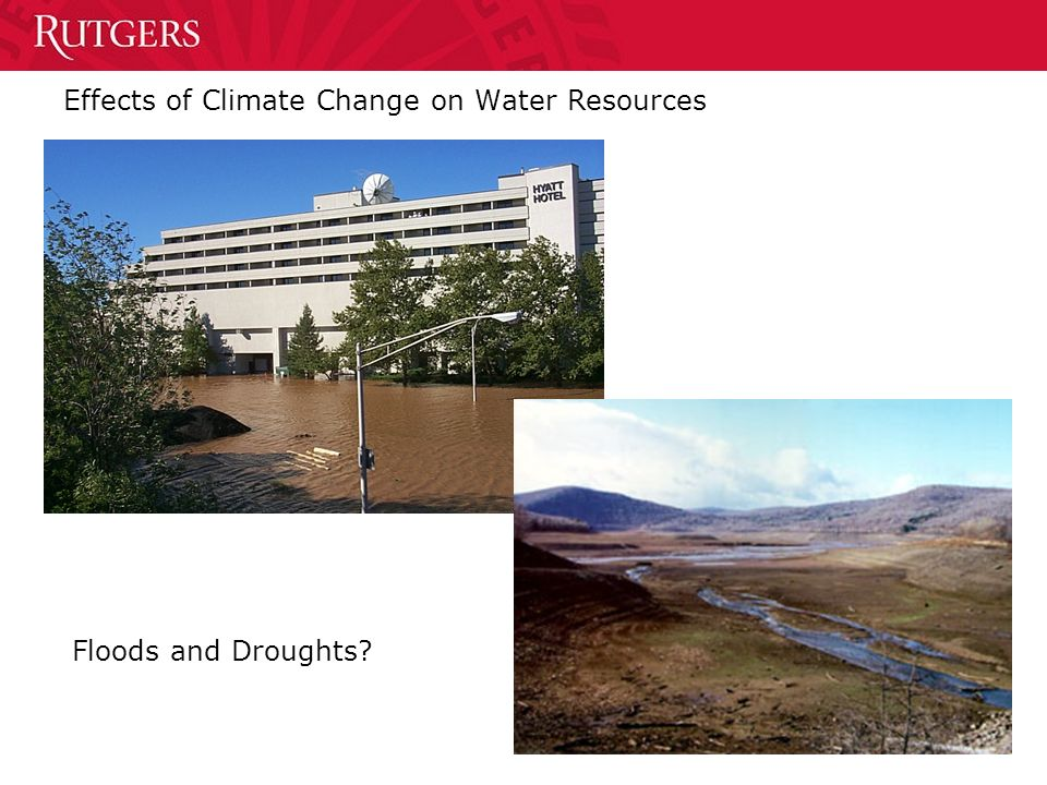 Effects of Climate Change on Water Resources Floods and Droughts