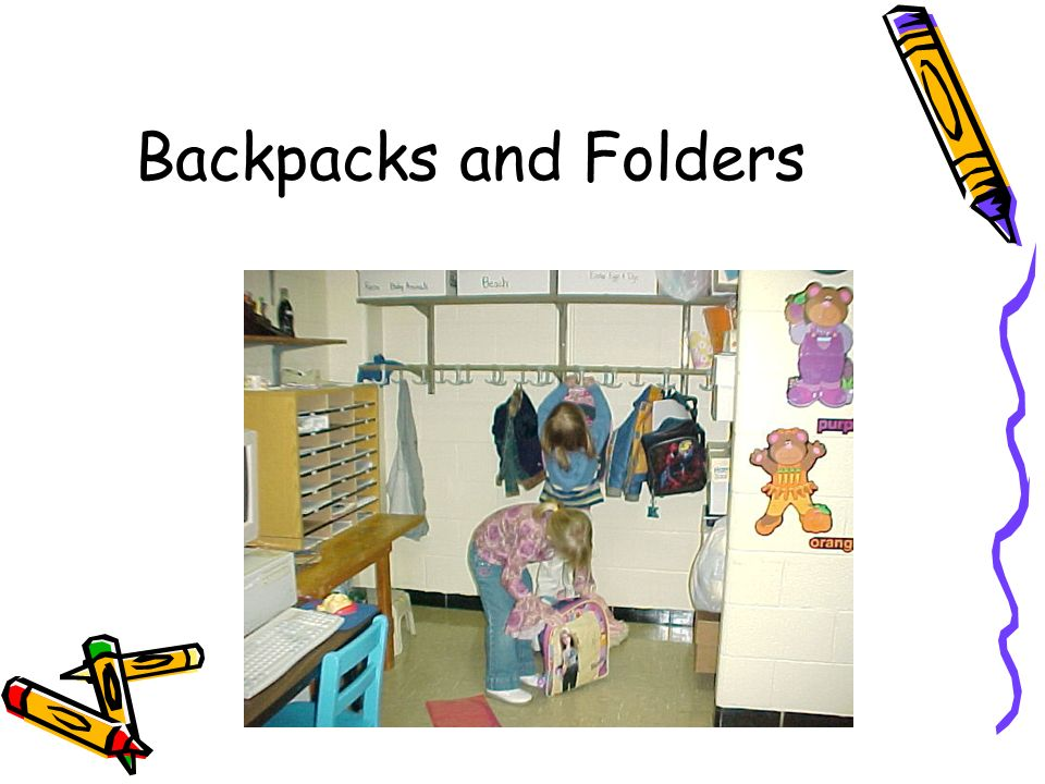 Backpacks and Folders