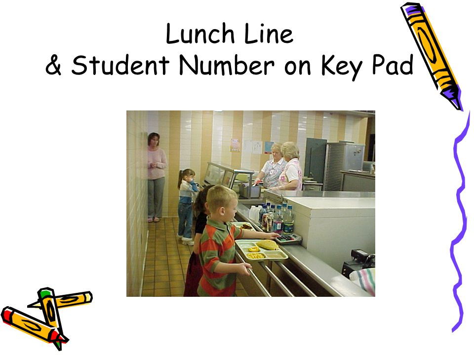 Lunch Line & Student Number on Key Pad