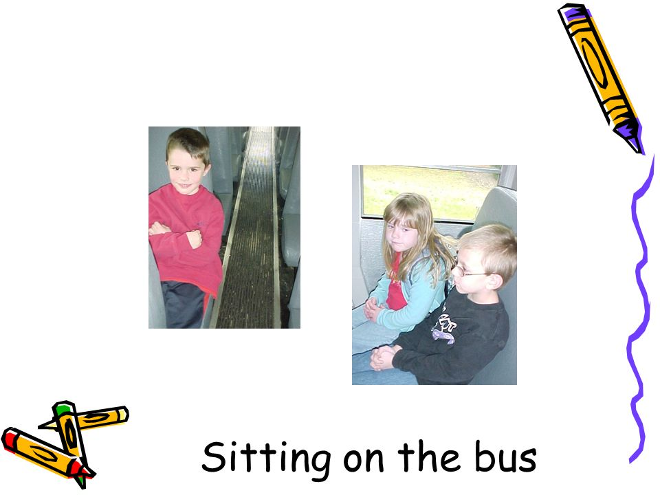 Sitting on the bus