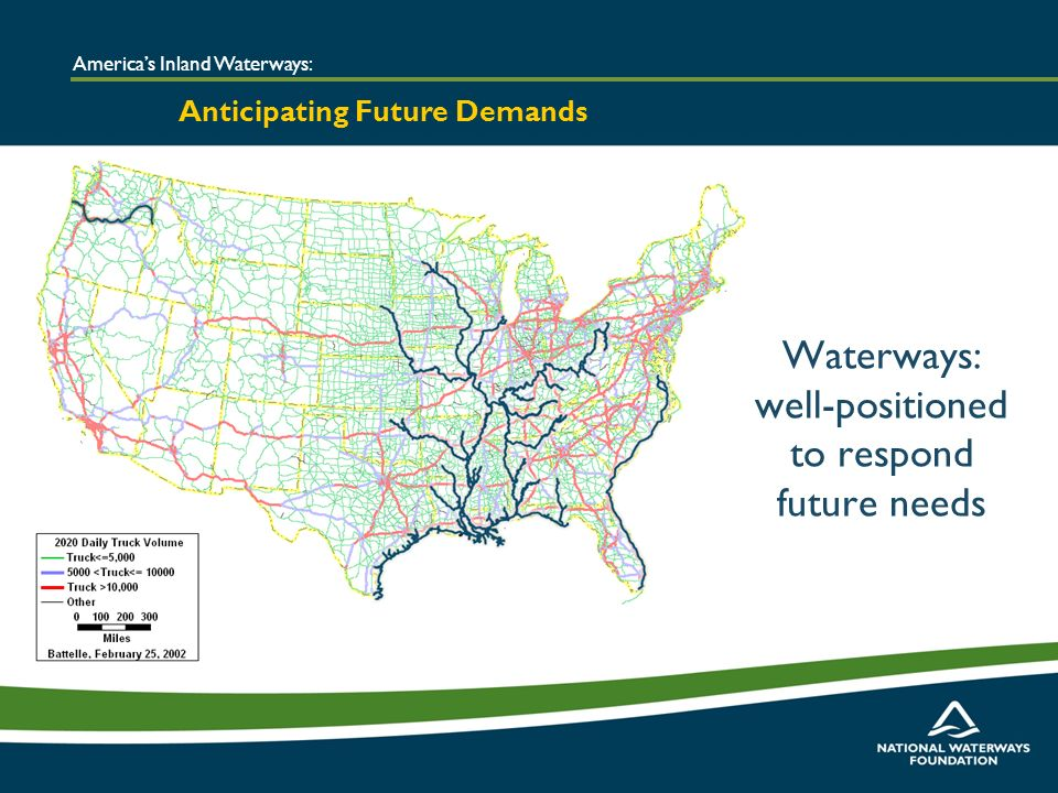 Americas Inland Waterways: Anticipating Future Demands Waterways: well-positioned to respond future needs
