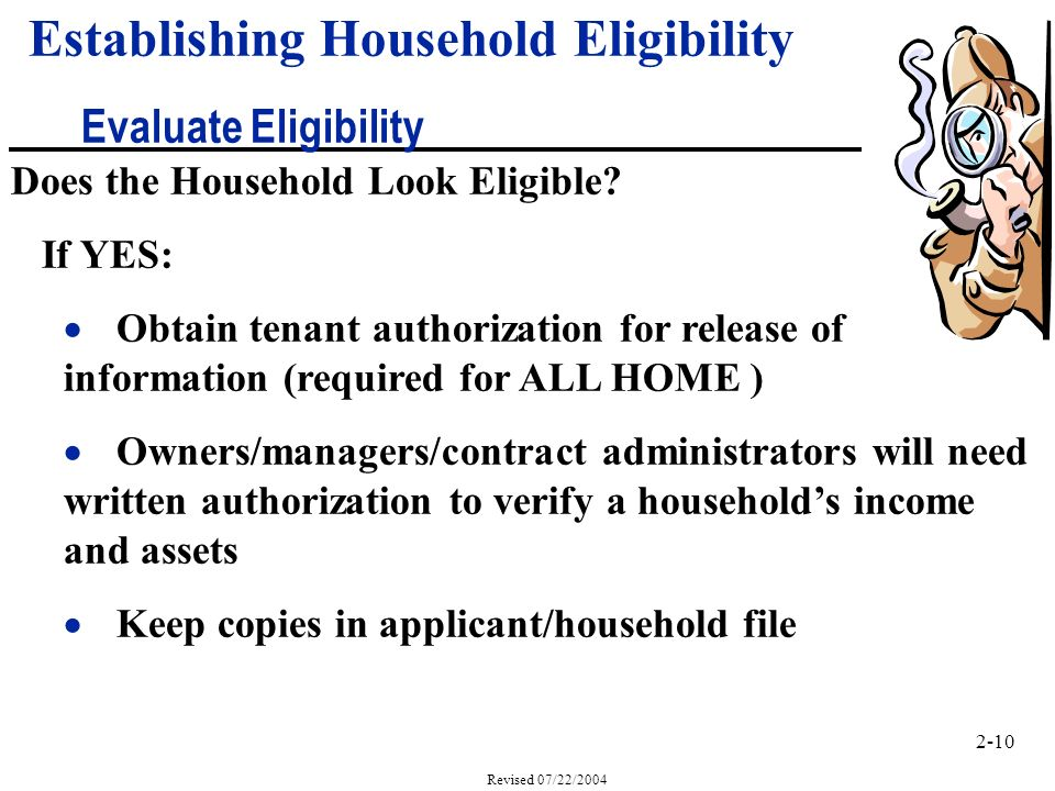 2-10 Revised 07/22/2004 Does the Household Look Eligible.