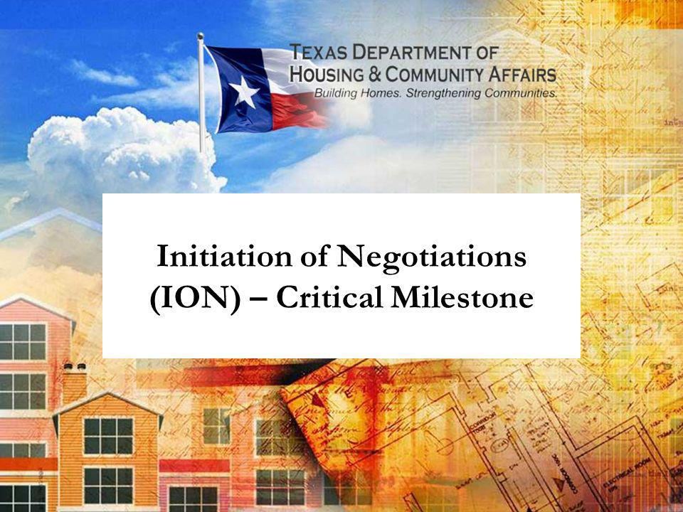 Initiation of Negotiations (ION) – Critical Milestone