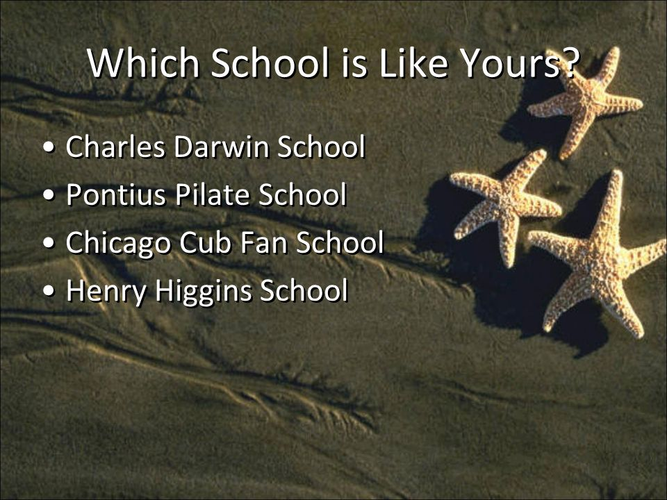 Which School is Like Yours.