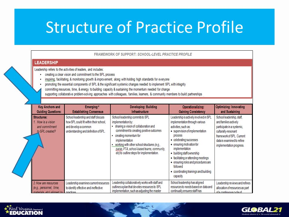 Structure of Practice Profile