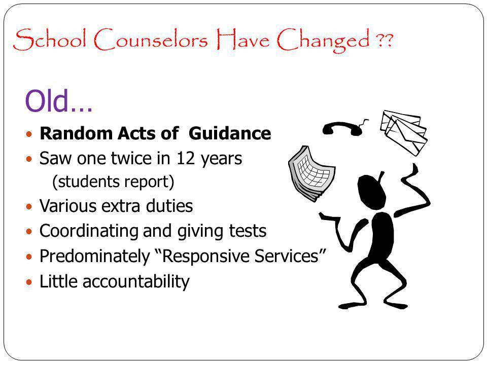 School Counselors Have Changed .