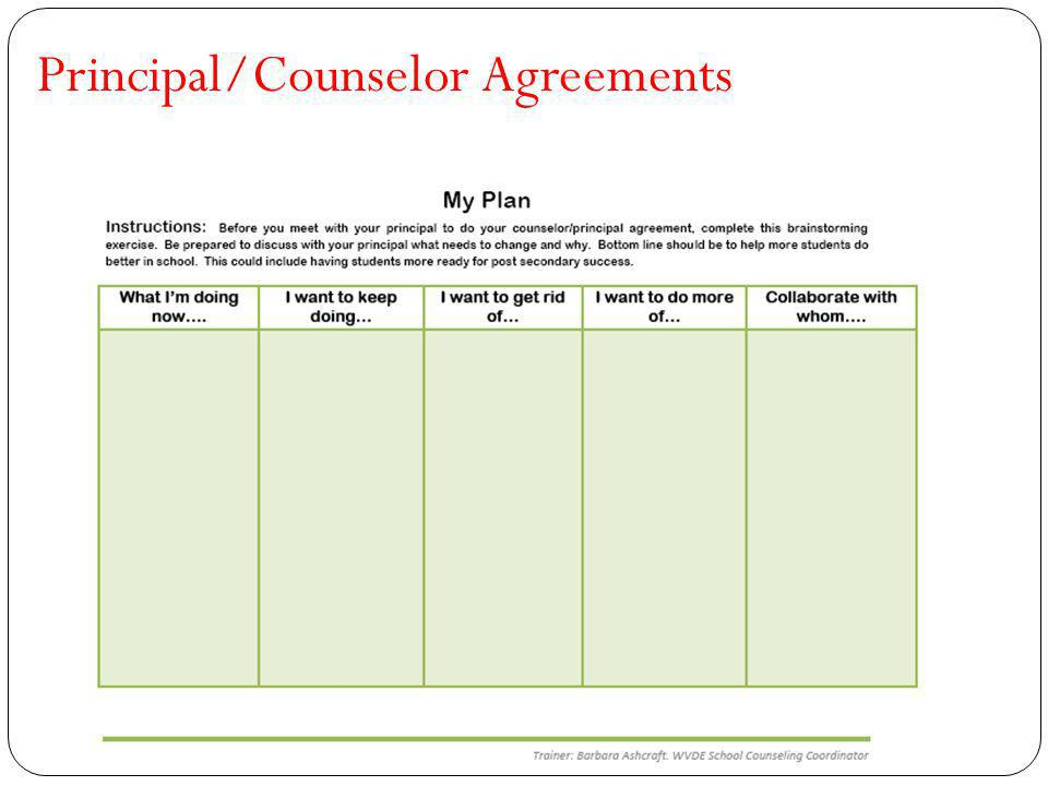 Principal/Counselor Agreements