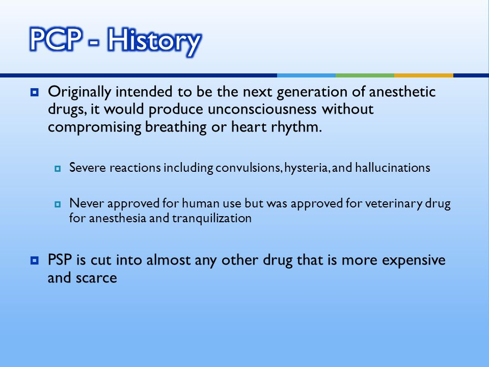 Originally intended to be the next generation of anesthetic drugs, it would produce unconsciousness without compromising breathing or heart rhythm.